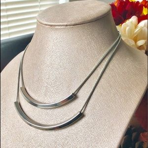 Jewelry - Silver Bars Necklace